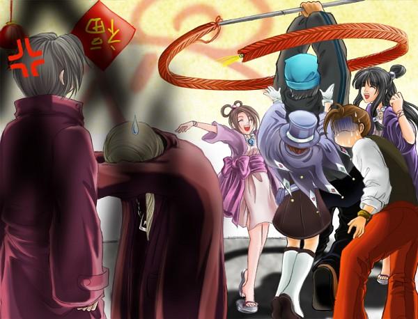 Tags: Anime, Gyakuten Saiban, Mitsurugi Reiji, Odoroki Housuke, Naruhodou Ryuuichi, Naruhodou Minuki, Ayasato Mayoi, Garyuu Kyouya, Ayasato Harumi, Phoenix Wright: Ace Attorney