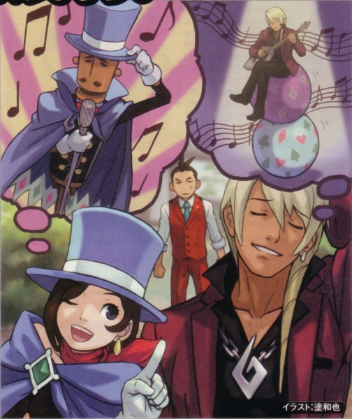 Tags: Anime, Gyakuten Saiban, Odoroki Housuke, Naruhodou Minuki, Garyuu Kyouya, Official Art, Phoenix Wright: Ace Attorney
