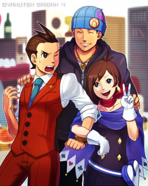 Tags: Anime, Pixiv Id 203656, Gyakuten Saiban, Odoroki Housuke, Naruhodou Ryuuichi, Naruhodou Minuki, Badge, Stubble, Pixiv, Phoenix Wright: Ace Attorney