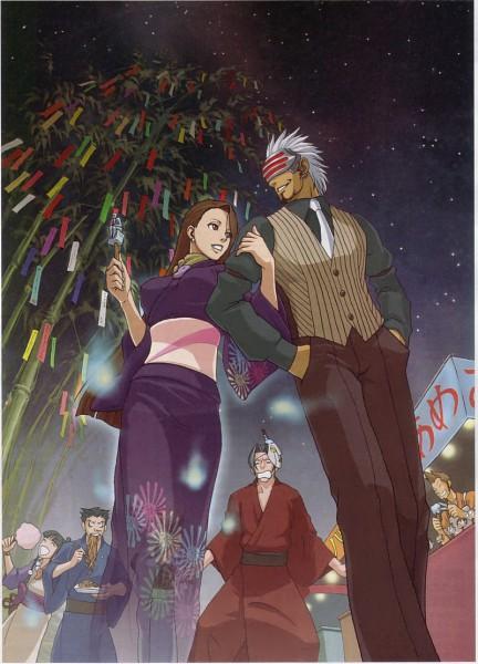 Tags: Anime, Gyakuten Saiban, Ayasato Chihiro, Naruhodou Ryuuichi, Ayasato Mayoi, Mitsurugi Reiji, Godot (Gyakuten Saiban), Mobile Wallpaper, Official Art, Phoenix Wright: Ace Attorney