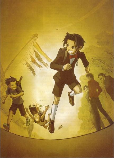 Tags: Anime, Gyakuten Saiban, Naruhodou Ryuuichi, Mitsurugi Reiji, Godot (Gyakuten Saiban), Hoshikage Soranosuke, Yahari Masashi, Ohba Kaoru, Namakura Yukio, Mobile Wallpaper, Phoenix Wright: Ace Attorney