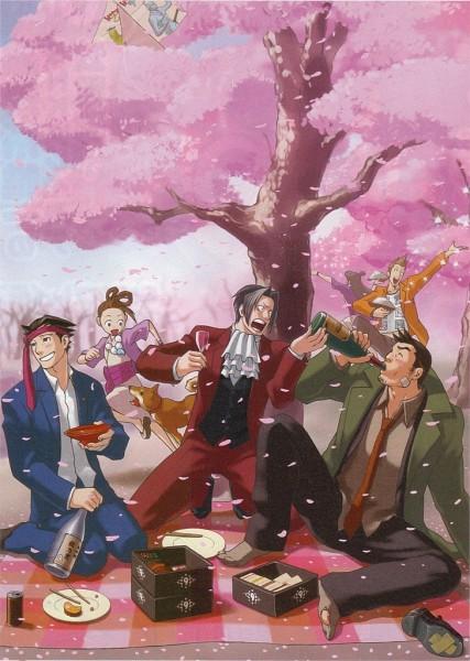 Tags: Anime, Gyakuten Saiban, Ayasato Harumi, Naruhodou Ryuuichi, Ayasato Mayoi, Mitsurugi Reiji, Itonokogiri Keisuke, Yahari Masashi, Mobile Wallpaper, Official Art, Phoenix Wright: Ace Attorney