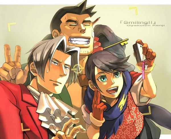 Tags: Anime, Pixiv Id 437154, Gyakuten Saiban, Mitsurugi Reiji, Itonokogiri Keisuke, Ichijou Mikumo, Fanart, Fanart From Pixiv, Pixiv, Phoenix Wright: Ace Attorney