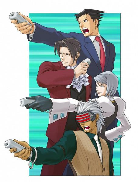 Tags: Anime, Gyakuten Saiban, Karuma Mei, Godot (Gyakuten Saiban), Naruhodou Ryuuichi, Mitsurugi Reiji, Remote, Wii, Wiimote, Phoenix Wright: Ace Attorney