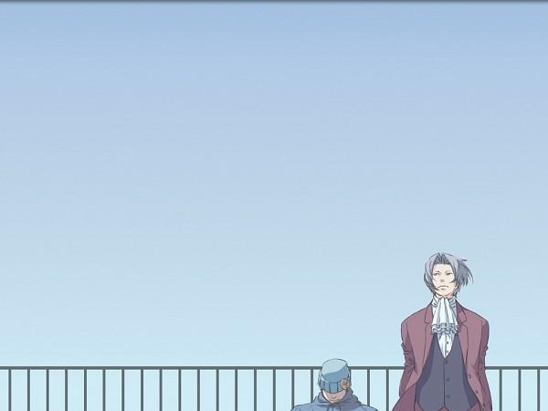 Tags: Anime, Gyakuten Saiban, Mitsurugi Reiji, Naruhodou Ryuuichi, Wallpaper, Phoenix Wright: Ace Attorney