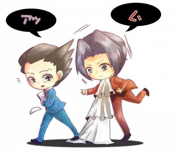 Tags: Anime, Yougirasu, Gyakuten Saiban, Mitsurugi Reiji, Naruhodou Ryuuichi, Phoenix Wright: Ace Attorney