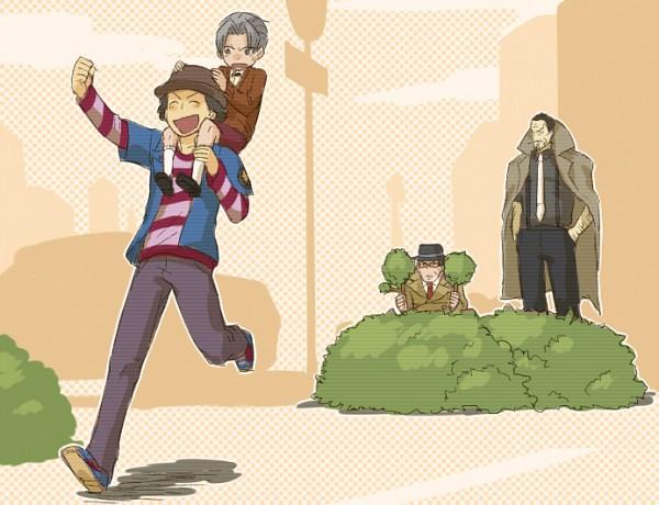 Tags: Anime, Pixiv Id 203656, Gyakuten Saiban, Mitsurugi Reiji, Mitsurugi Shin, Tateyuki Shigaraki, Ittetsu Badou, Hiding, Pixiv, Phoenix Wright: Ace Attorney