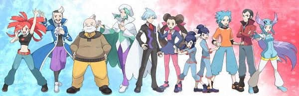 Tags: Anime, Ouri, Pokémon, Fuu (Pokémon), Tsutsuji (Pokémon), Nagi (Pokémon), Ran (Pokémon), Mikuri (Pokémon), Asuna (Pokémon), Touki (Pokémon), Tessen, Tsuwabuki Daigo, Adan