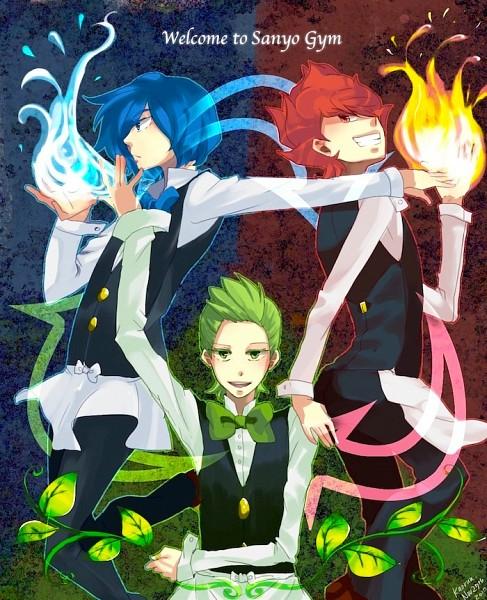 Tags: Anime, Kaorun, Pokémon, Pod (Pokémon), Corn (Pokémon), Dento (Pokémon), Element, Gym Leader, Pixiv