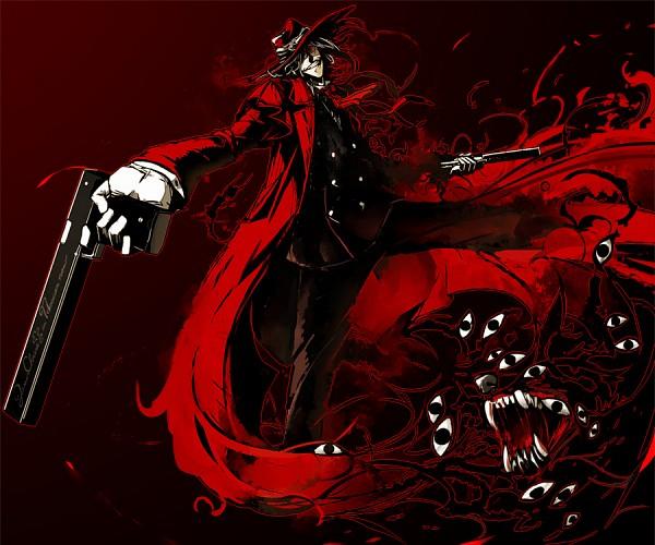 Tags: Anime, Kawazu, Geneon Pioneer, HELLSING, Alucard (Hellsing), Hellhound, Fanart