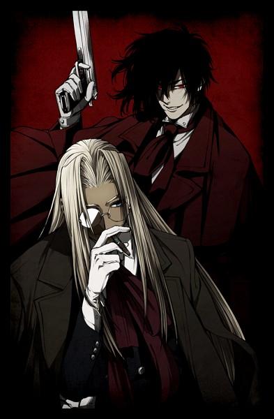 Tags: Anime, Komo (Sleepy), Geneon Pioneer, HELLSING, Alucard (Hellsing), Integra Hellsing, Mobile Wallpaper