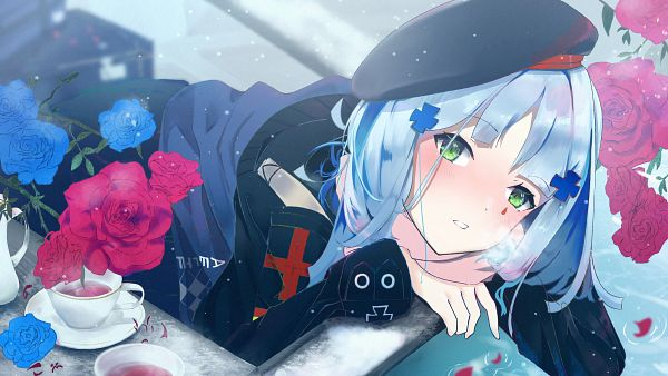 Tags: Anime, Pixiv Id 21207963, Girls Frontline, HK416 (Girls Frontline), 3200x1800 Wallpaper, Pixiv, HD Wallpaper, Wallpaper, Fanart, Fanart From Pixiv