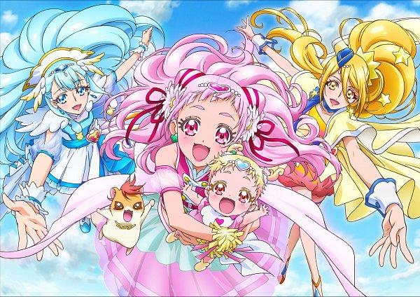 Tags: Anime, Pixiv Id 784255, Kawamura Toshie, HUGtto! Precure, Cure Ange, Hariham Harry, Yakushiji Saaya, Hug-tan, Nono Hana, Kagayaki Homare, Cure Yell, Cure Étoile, Hamster