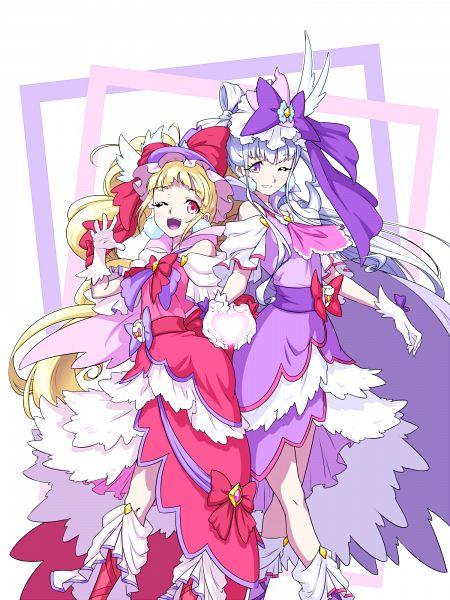 Tags: Anime, Pixiv Id 3411146, HUGtto! Precure, Cure Amour, Cure MaChérie, Aisaki Emiru, Lulu (Precure), Fanart, Twitter, Fanart From Pixiv, Pixiv