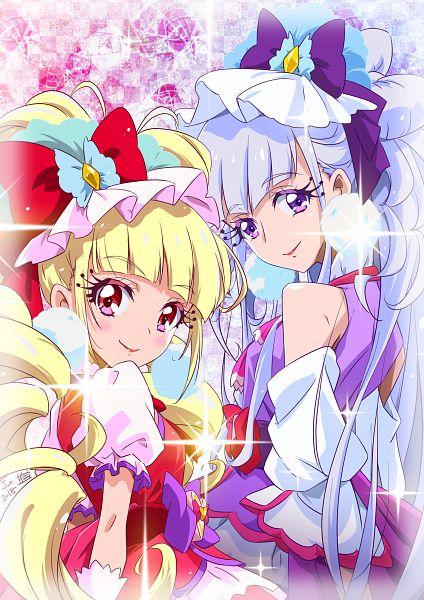 Tags: Anime, Pixiv Id 17089321, HUGtto! Precure, Aisaki Emiru, Lulu (Precure), Cure Amour, Cure MaChérie, Pixiv, Fanart, Fanart From Pixiv