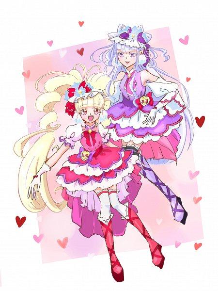 Tags: Anime, Fpminnie1, HUGtto! Precure, Cure Amour, Cure MaChérie, Aisaki Emiru, Lulu (Precure), Twitter, Fanart