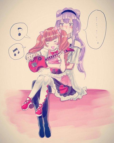 Tags: Anime, Pixiv Id 2690306, HUGtto! Precure, Aisaki Emiru, Lulu (Precure), Fanart From Pixiv, Pixiv, Fanart