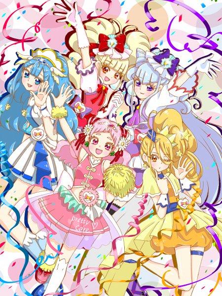 Tags: Anime, Pixiv Id 32013370, HUGtto! Precure, Cure MaChérie, Cure Ange, Aisaki Emiru, Yakushiji Saaya, Lulu (Precure), Nono Hana, Kagayaki Homare, Cure Yell, Cure Amour, Cure Étoile