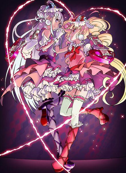 Tags: Anime, Pixiv Id 33748522, HUGtto! Precure, Lulu (Precure), Cure Amour, Cure MaChérie, Aisaki Emiru, Fanart From Pixiv, Pixiv, Fanart