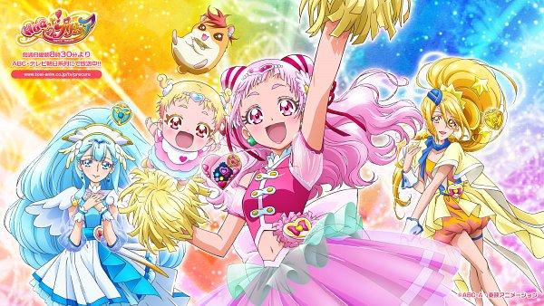 Tags: Anime, Kawamura Toshie, Toei Animation, HUGtto! Precure, Cure Ange, Hariham Harry, Yakushiji Saaya, Hug-tan, Nono Hana, Kagayaki Homare, Cure Yell, Cure Étoile, Wallpaper