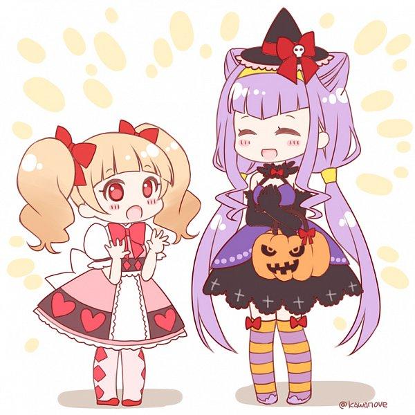 Tags: Anime, Pixiv Id 21552446, HUGtto! Precure, Aisaki Emiru, Lulu (Precure), Twitter, Fanart From Pixiv, Pixiv, Fanart