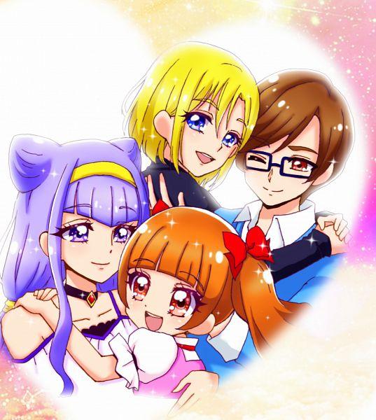 Tags: Anime, Pixiv Id 10315560, HUGtto! Precure, Aisaki Emiru, Wakamiya Henri, Lulu (Precure), Aisaki Masato, Pixiv, Fanart, Fanart From Pixiv