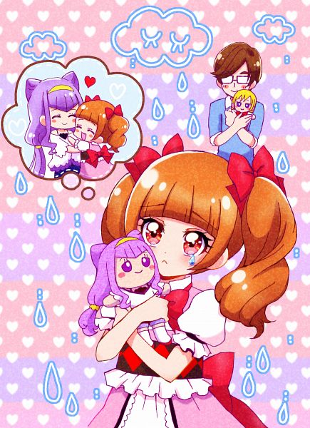 Tags: Anime, Pixiv Id 10315560, HUGtto! Precure, Wakamiya Henri, Lulu (Precure), Aisaki Masato, Aisaki Emiru, Pixiv, Fanart, Fanart From Pixiv