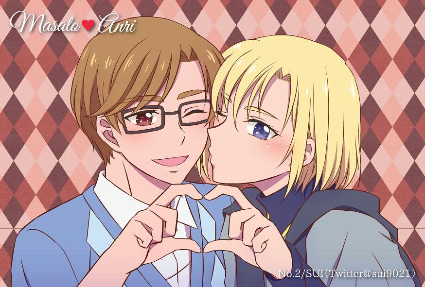 Tags: Anime, Pixiv Id 32705762, HUGtto! Precure, Aisaki Masato, Wakamiya Henri, Heart Gesture Duo, Fanart, Fanart From Pixiv, Pixiv