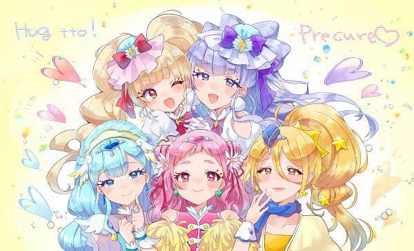 Tags: Anime, Pixiv Id 285473, HUGtto! Precure, Lulu (Precure), Nono Hana, Kagayaki Homare, Cure Yell, Cure Amour, Cure Étoile, Cure MaChérie, Cure Ange, Aisaki Emiru, Yakushiji Saaya