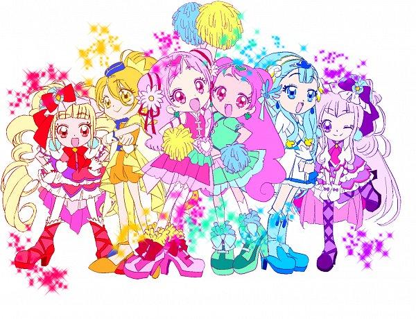 Tags: Anime, Pixiv Id 3726698, HUGtto! Precure, Lulu (Precure), Cure Ange, Nono Kotori, Yakushiji Saaya, Cure Amour, Nono Hana, Cure MaChérie, Kagayaki Homare, Cure Yell, Aisaki Emiru