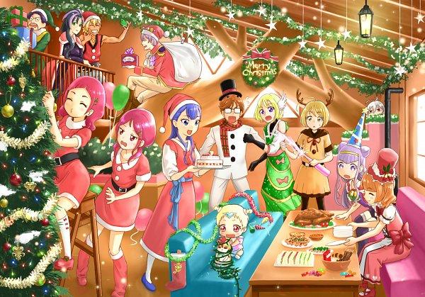 Tags: Anime, Pixiv Id 23816107, HUGtto! Precure, Kagayaki Homare, Bishin, Charariito, Yakushiji Saaya, Aisaki Emiru, Nono Kotori, Dr. Traum, Nono Hana, Wakamiya Henri, Hariham Harry