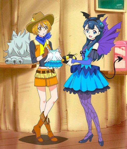 Tags: Anime, HUGtto! Precure, Yakushiji Saaya, Kagayaki Homare, Cowboy Boots, Stitched Screenshot, Screenshot