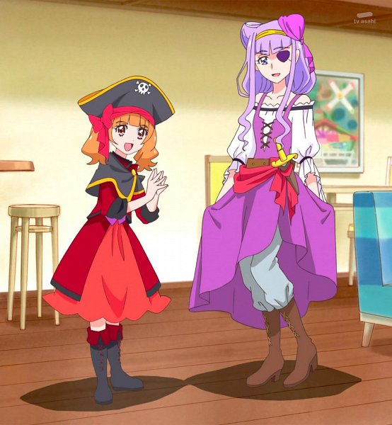 Tags: Anime, HUGtto! Precure, Aisaki Emiru, Lulu (Precure), Stitched Screenshot, Screenshot