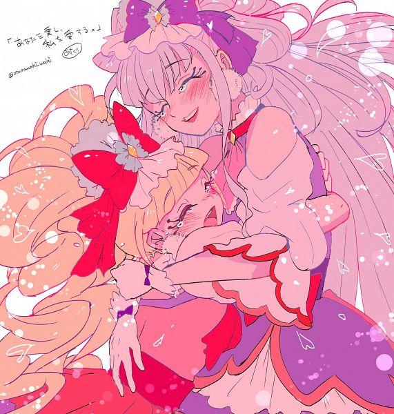 Tags: Anime, Pixiv Id 3089674, HUGtto! Precure, Cure MaChérie, Aisaki Emiru, Lulu (Precure), Cure Amour, Fanart From Pixiv, Pixiv, Fanart