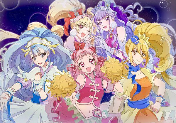 Tags: Anime, Pixiv Id 10511528, HUGtto! Precure, Kagayaki Homare, Cure Yell, Cure Amour, Cure Étoile, Cure MaChérie, Cure Ange, Aisaki Emiru, Yakushiji Saaya, Lulu (Precure), Nono Hana