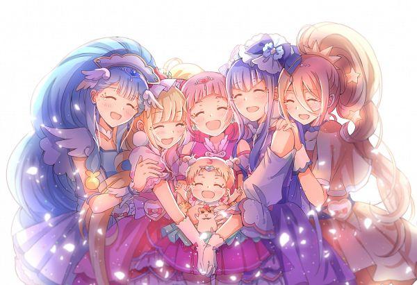 Tags: Anime, Lazy Orange, HUGtto! Precure, Lulu (Precure), Cure Ange, Hariham Harry, Yakushiji Saaya, Cure Amour, Hug-tan, Nono Hana, Cure MaChérie, Kagayaki Homare, Cure Yell