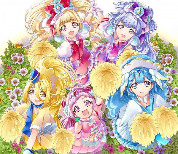 Tags: Anime, Yuutarou (Pixiv822664), HUGtto! Precure, Cure Yell, Cure Amour, Cure Étoile, Cure MaChérie, Cure Ange, Aisaki Emiru, Yakushiji Saaya, Lulu (Precure), Nono Hana, Kagayaki Homare
