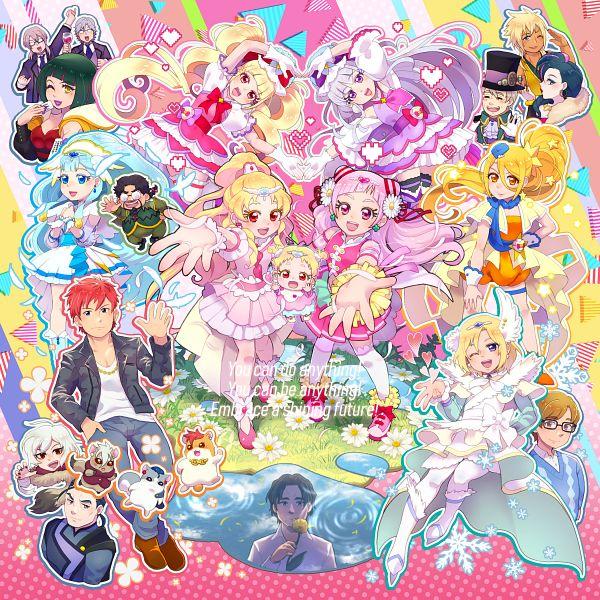 Tags: Anime, Pixiv Id 118669, HUGtto! Precure, Bishin, Yakushiji Saaya, Wakamiya Henri, Cure Tomorrow, Daigan, Hug-tan, Jeros, Jinjin, Nono Hana, Papple