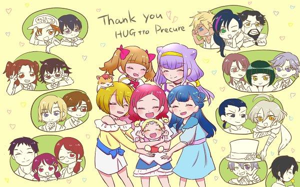 Tags: Anime, Pixiv Id 9632871, HUGtto! Precure, Papple, Nono Shintarou, Hug-tan, George Cry, Lulu (Precure), Amano Hinase, Kagayaki Homare, Bishin, Daigan, Charariito