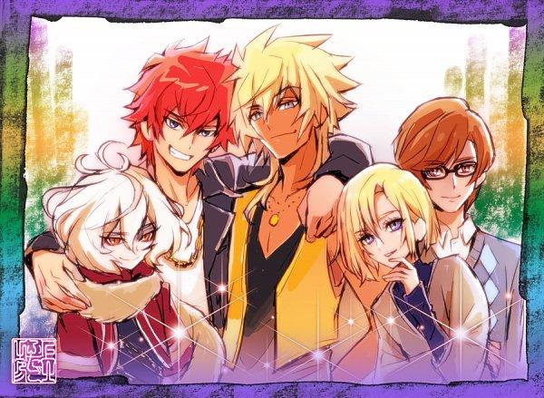 Tags: Anime, Kamikita Futago, HUGtto! Precure, Bishin, Wakamiya Henri, Charariito, Hariham Harry, Aisaki Masato, Twitter, Official Art