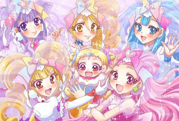 Tags: Anime, Pixiv Id 269157, HUGtto! Precure, Hug-tan, Nono Hana, Cure Amour, Kagayaki Homare, Cure Yell, Cure MaChérie, Cure Étoile, Aisaki Emiru, Cure Ange, Lulu Amour