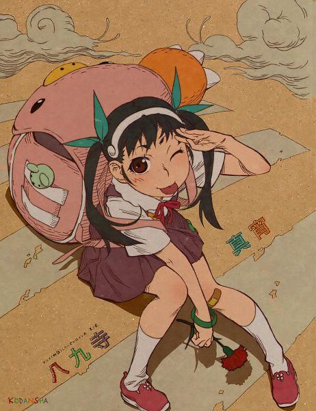 Tags: Anime, Shaft (Studio), Monogatari, Monogatari Series Heroine Book Volume 2 - Hachikuji Mayoi, Hachikuji Mayoi, Scan, Official Art