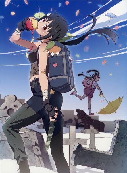 Tags: Anime, Watanabe Akio, Shaft (Studio), Monogatari, Hachikuji Mayoi, Official Art, DVD (Source), Scan
