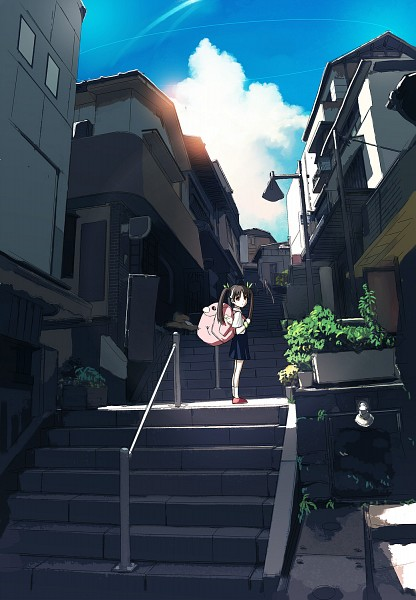 Tags: Anime, Konoma, Monogatari, Hachikuji Mayoi, Light Pole, Mobile Wallpaper
