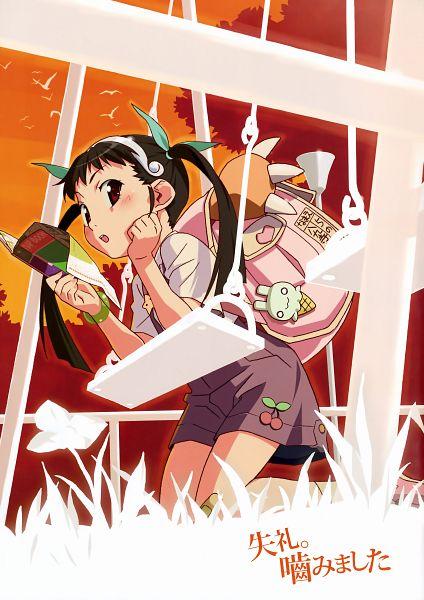 Tags: Anime, Shaft (Studio), Monogatari, Hachikuji Mayoi, Official Art, Mobile Wallpaper