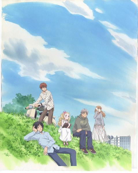 Tags: Anime, Hachimitsu to Clover, Yamada Ayumi, Morita Shinobu, Mayama Takumi, Hanamoto Hagumi, Takemoto Yuuta, Official Art, Honey And Clover