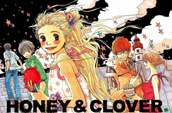 Tags: Anime, Umino Chika, Hachimitsu to Clover, Mayama Takumi, Morita Shinobu, Takemoto Yuuta, Hanamoto Hagumi, Leader, Yamada Ayumi, Popcorn, Official Art, Honey And Clover