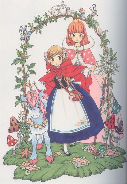 Tags: Anime, Umino Chika, Hachimitsu to Clover, Yamada Ayumi, Hanamoto Hagumi, Royal Robe, Official Art, Scan, Honey And Clover