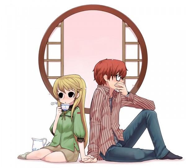 Tags: Anime, X6suke, Hachimitsu to Clover, Mayama Takumi, Yamada Ayumi, Round Window, Fanart, Honey And Clover
