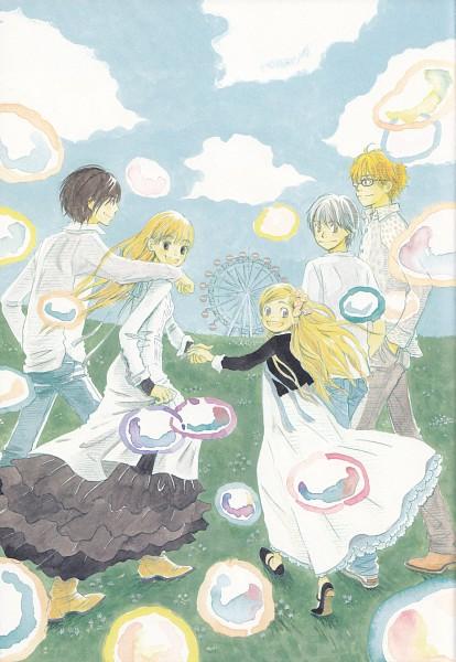 Tags: Anime, Umino Chika, Hachimitsu to Clover, Hanamoto Hagumi, Takemoto Yuuta, Yamada Ayumi, Morita Shinobu, Mayama Takumi, Ferris Wheel, Official Art, Honey And Clover